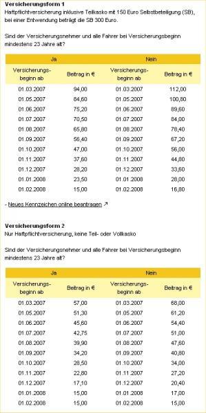 Versicherungskennzeichen 2007 Neu Seite 2 Vespa V50