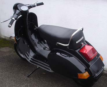 vespa px 80 e lusso schwarz tuning d r 135 ccm. Black Bedroom Furniture Sets. Home Design Ideas