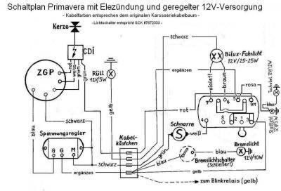 V50 Umbau auf 12 Volt Zündung / Schaltplan ? - Vespa V50, Primavera ...