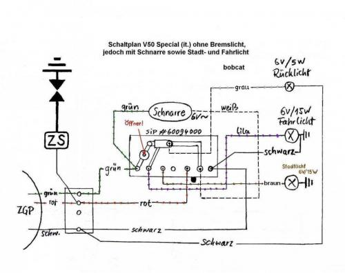 V5B3T Elektrikproblem / Scheinwerfer geht nicht - Vespa V50 ...