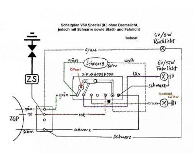 schaltplan einer pedalo - Vespa V50, Primavera, ET3, PK, ETS etc ...