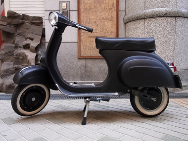 elektro vespa mit old sf gestell vespa v50 primavera. Black Bedroom Furniture Sets. Home Design Ideas