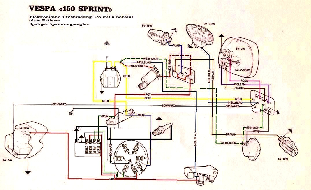 Vespa p wiring diagram sprint
