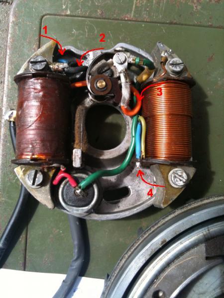 V50N Schaltplan Lichtmaschine - Vespa V50, Primavera, ET3, PK, ETS ...