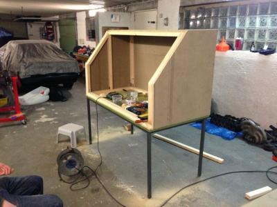 bau einer sandstrahlkabine blabla gsf das vespa. Black Bedroom Furniture Sets. Home Design Ideas
