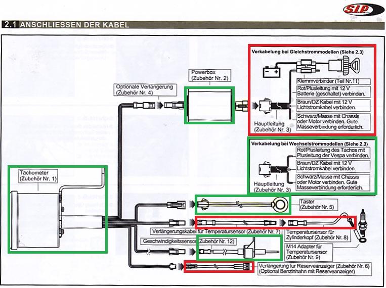 V50 Schaltplan anpassen für LED Blinker - Vespa V50, Primavera, ET3 ...