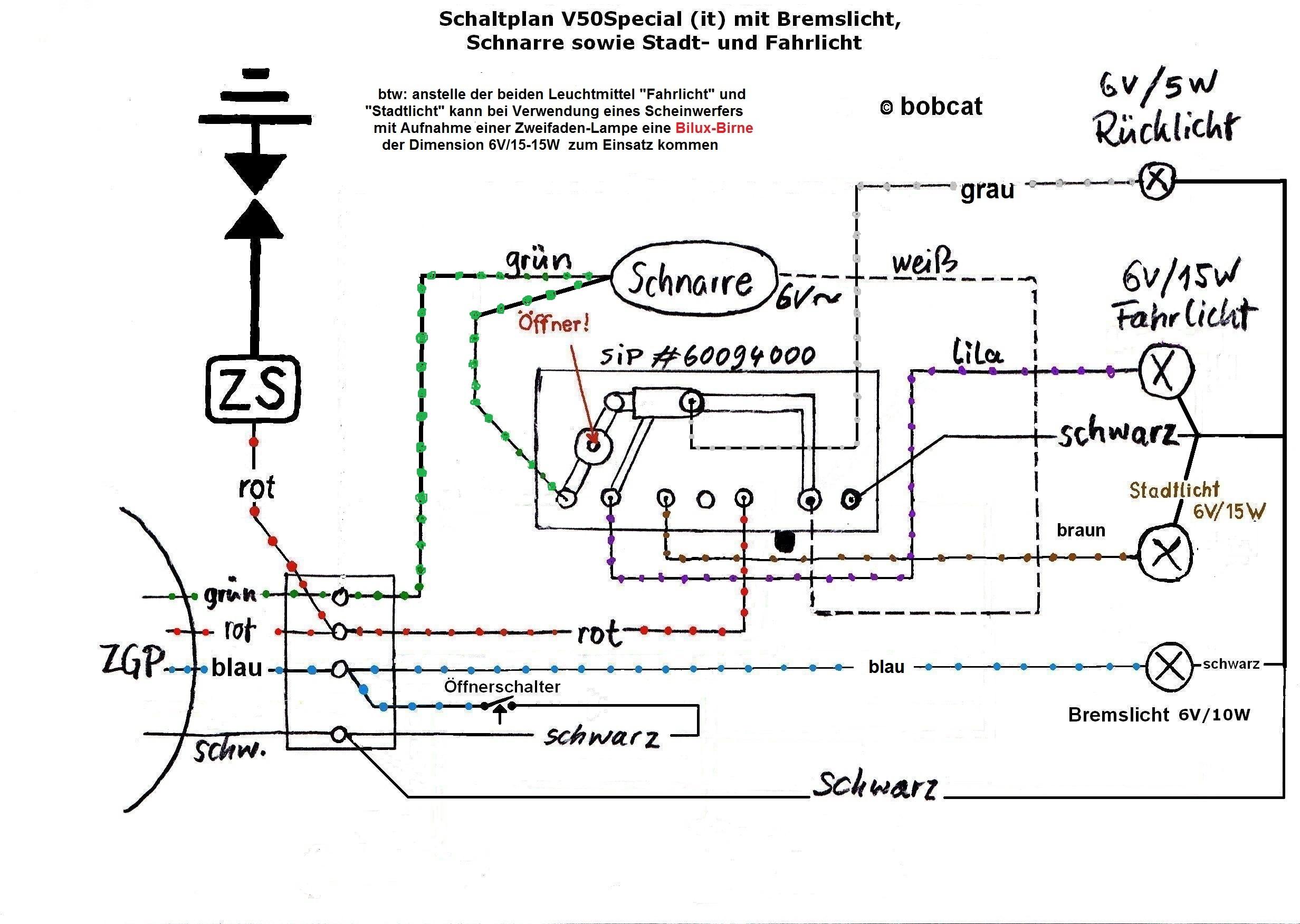 Fantastisch Verkabelung Bremslichter Fotos - Der Schaltplan ...