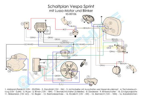 Lampenfassung Sprint - Vespa Rally, Sprint, VNA, VNB, VBB, V125, etc ...